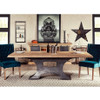 "Steampunk Industrial Steel + Wood Dining Table 90"""