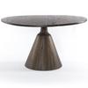 "Bronx Salvaged Wood Round Pedestal Dining Table 54"""