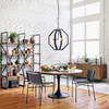 "Aero Tulip Industrial Brass Clad Top Round Pedestal Dining Table 55"""
