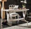 Belgian Cottage Flip Top Writing Desk - Antiqued White