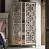 Belgian Cottage Ornate Display Storage Cabinet - Antiqued White