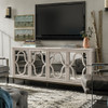 Belgian Cottage Mirrored Media Console - Antiqued White
