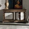 Belgian Cottage Sculpted Wine Storage Buffet Cabinet