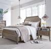 Amelie Solid Wood King Bed Frame - Vintage Taupe