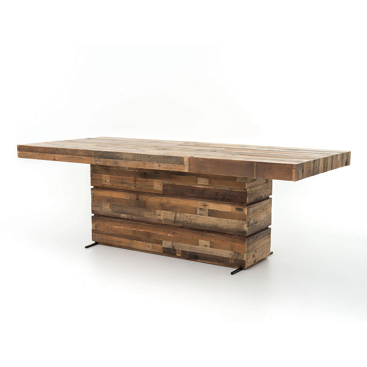 Angora Rustic Reclaimed Wood Dining Table 89""