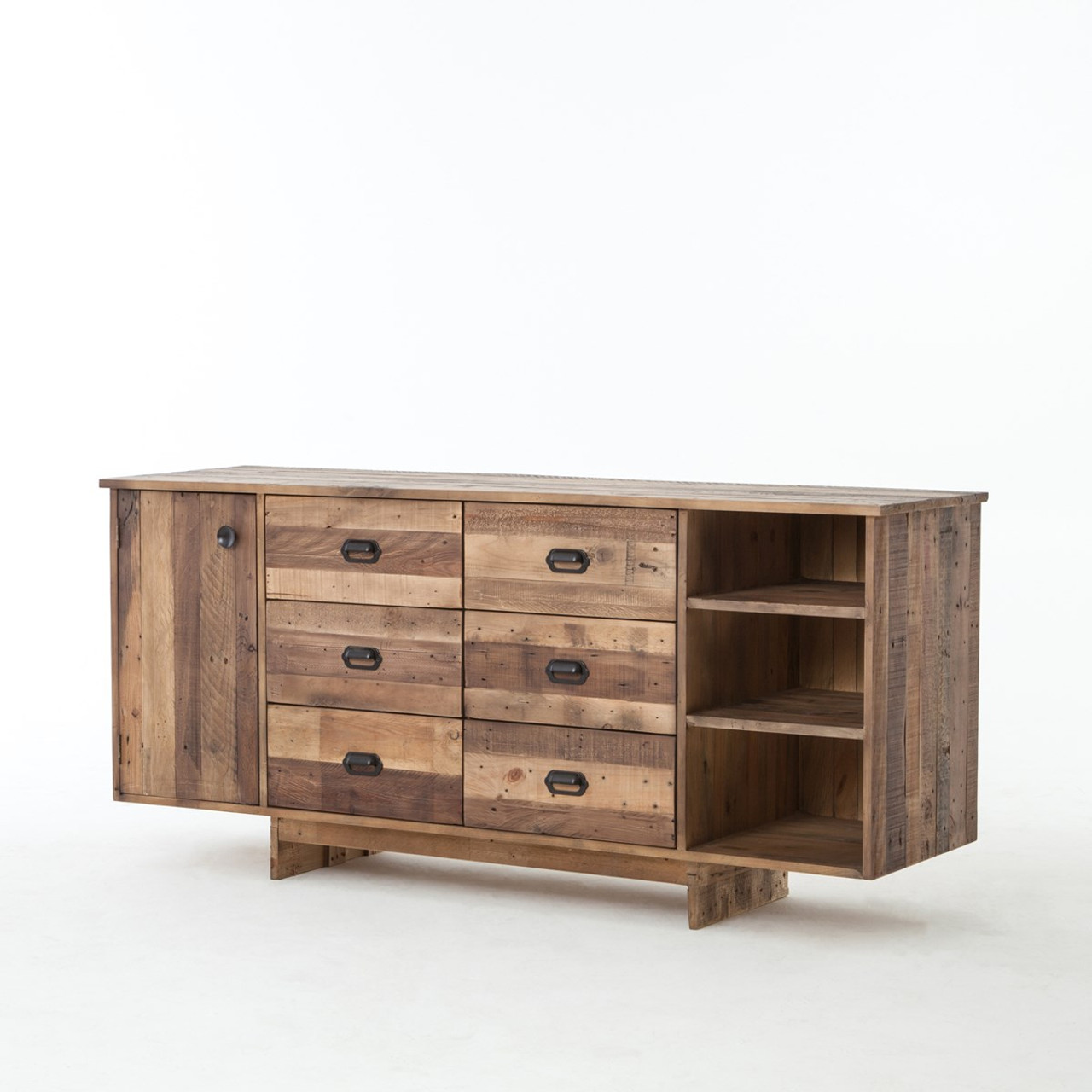 Rustic reclaimed wood console sofa tables zin home angora buffet sideboard 74 geotapseo Gallery