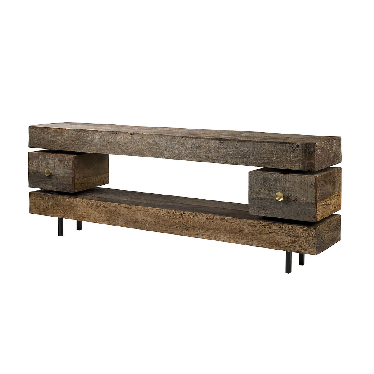Dillon reclaimed wood console table zin home dillon reclaimed wood console table geotapseo Gallery