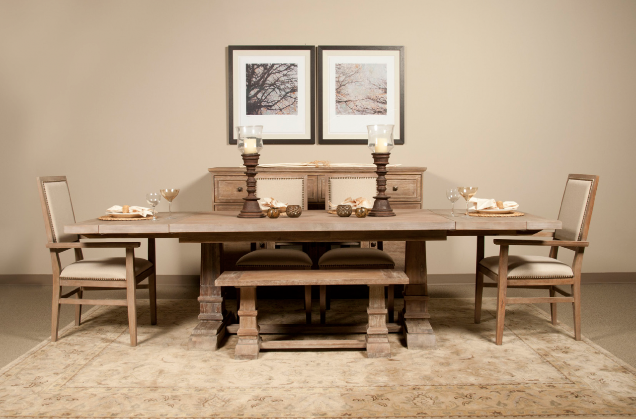 traditional dining room set. Hudson 43  dining bench is Shown 6 Piece Dining Set Zin Home Modern Sets