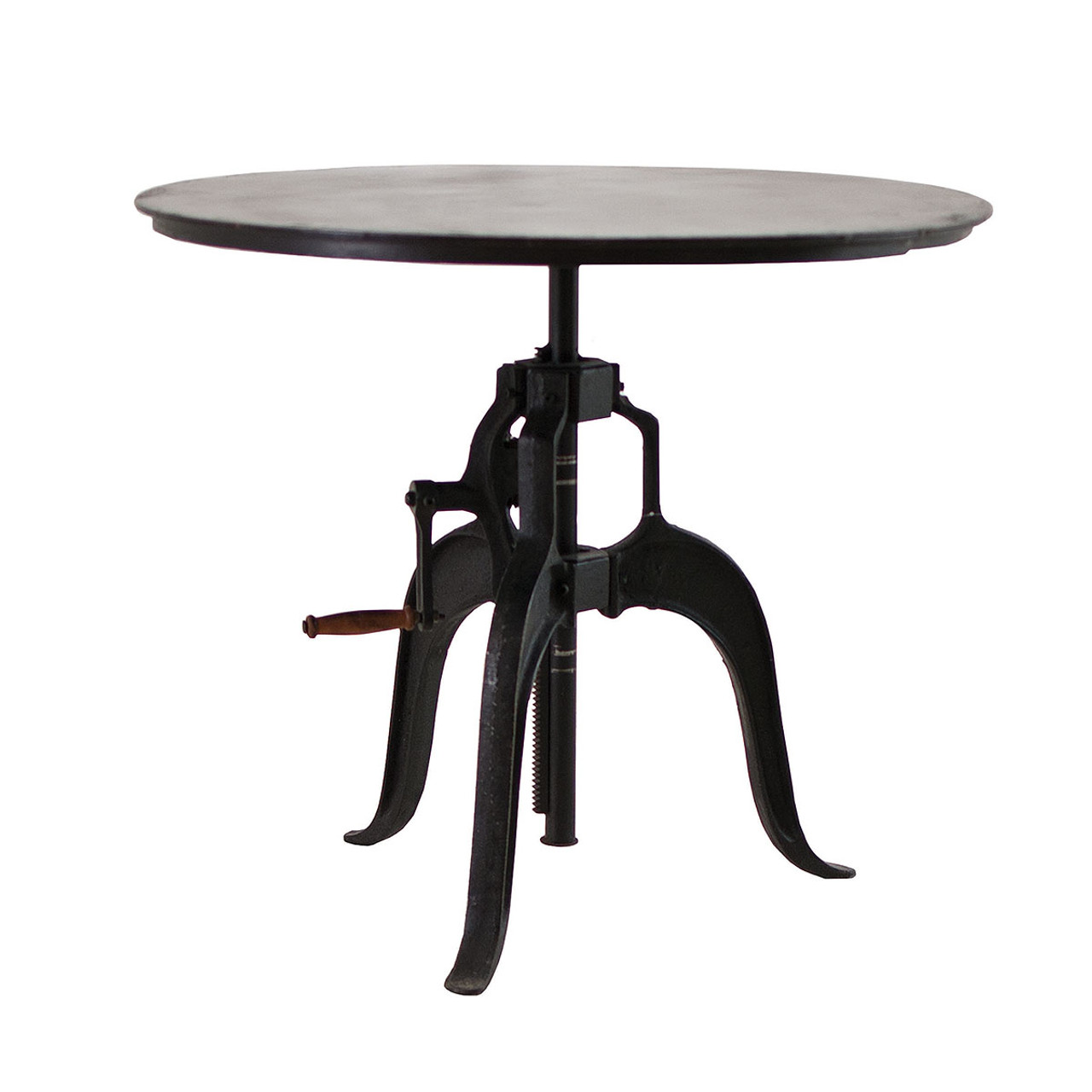 Adjustable height crank dining table 36 zin home adjustable height crank dining table 36 geotapseo Image collections