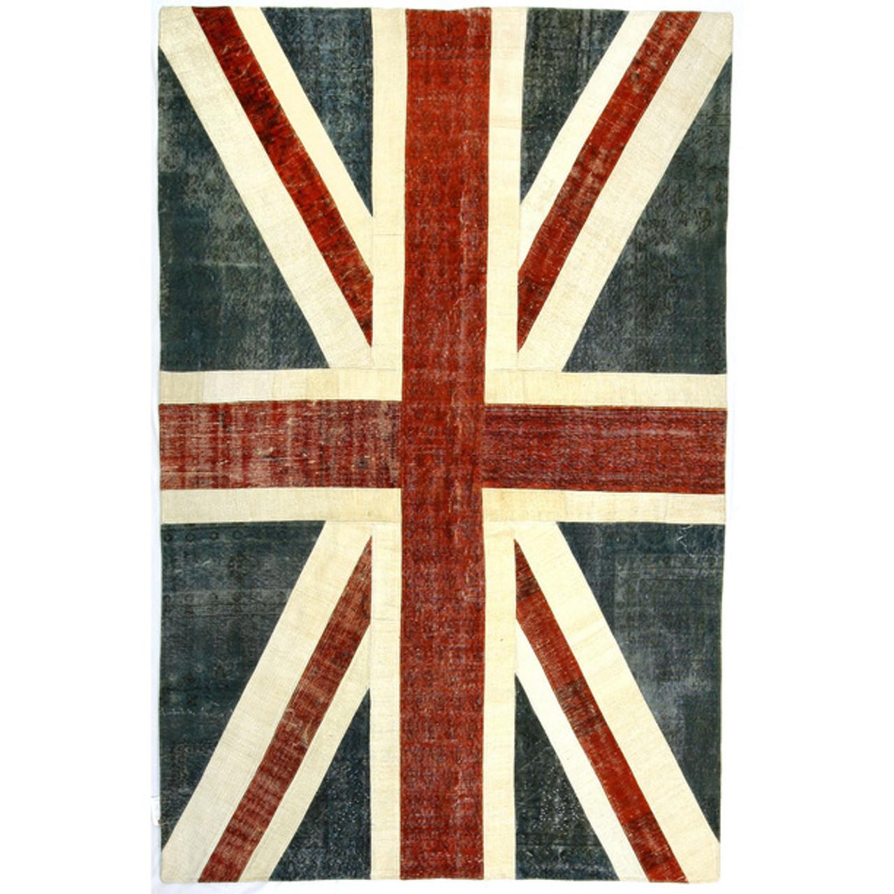 Good Union Jack Turkish Patchwork Rugs