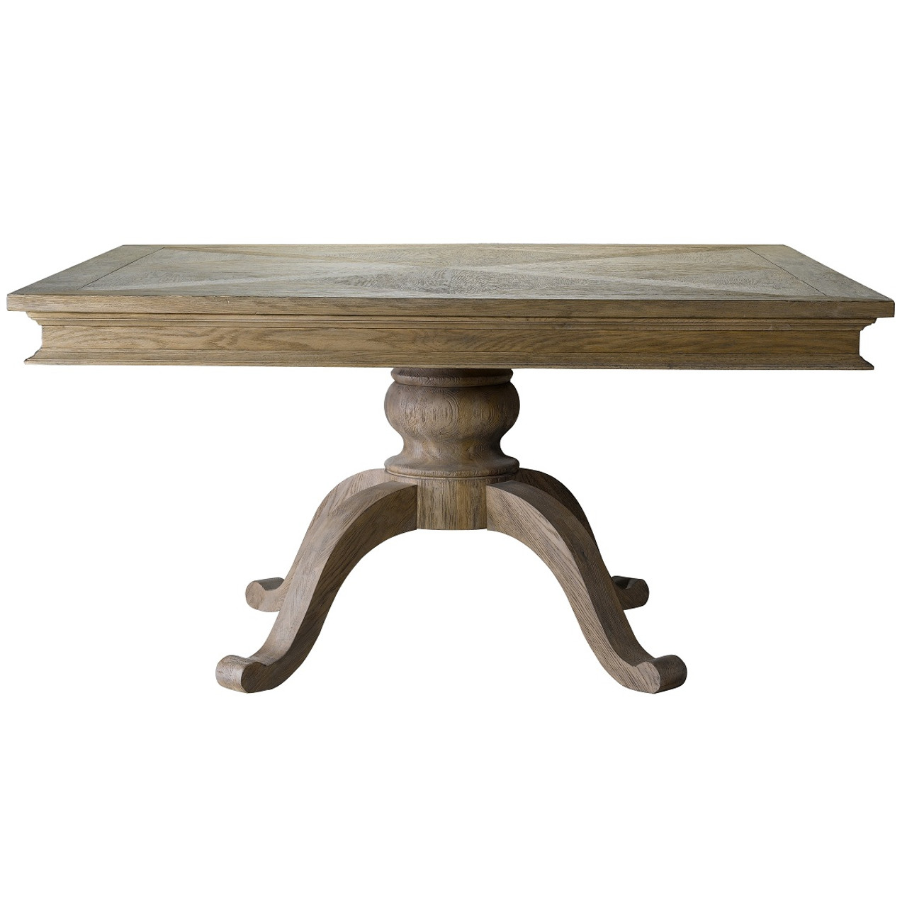 Wooden square dining table - Geneva Oak Wood Square Pedestal Dining Table 47