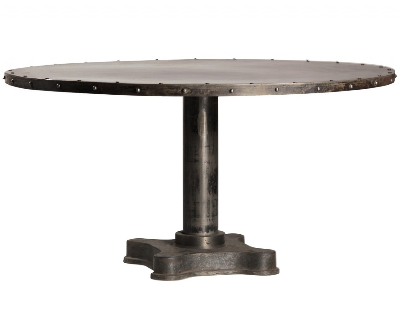 Industrial round dining table - Industrial 60 Round Dining Table