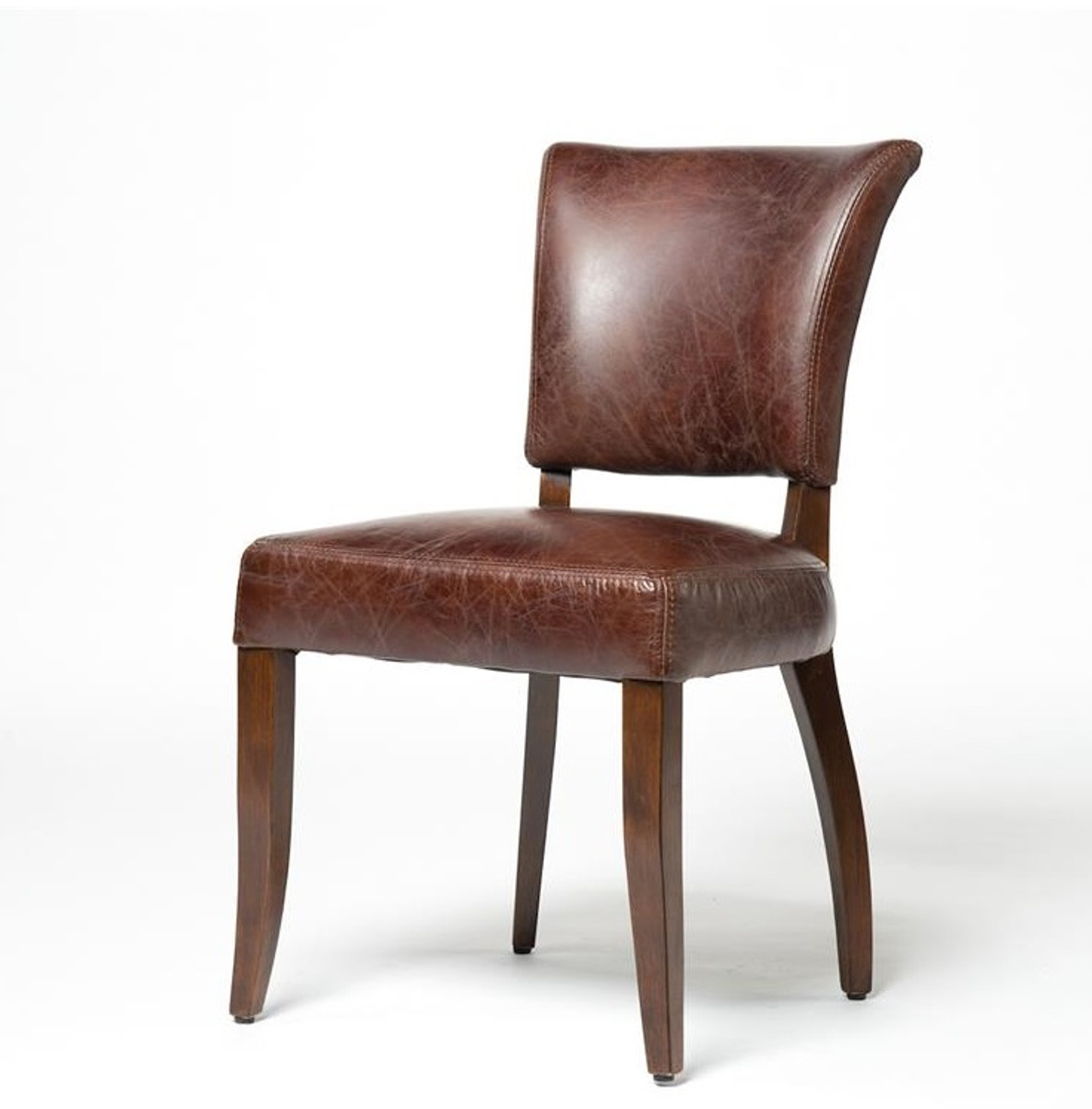 Mimi Biker Tan Leather Dining Room Chairs Part 82