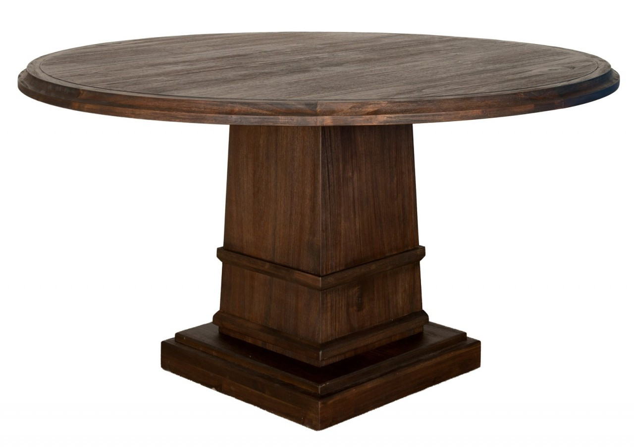"Hudson 54"" Round Dining Table with Column Base"