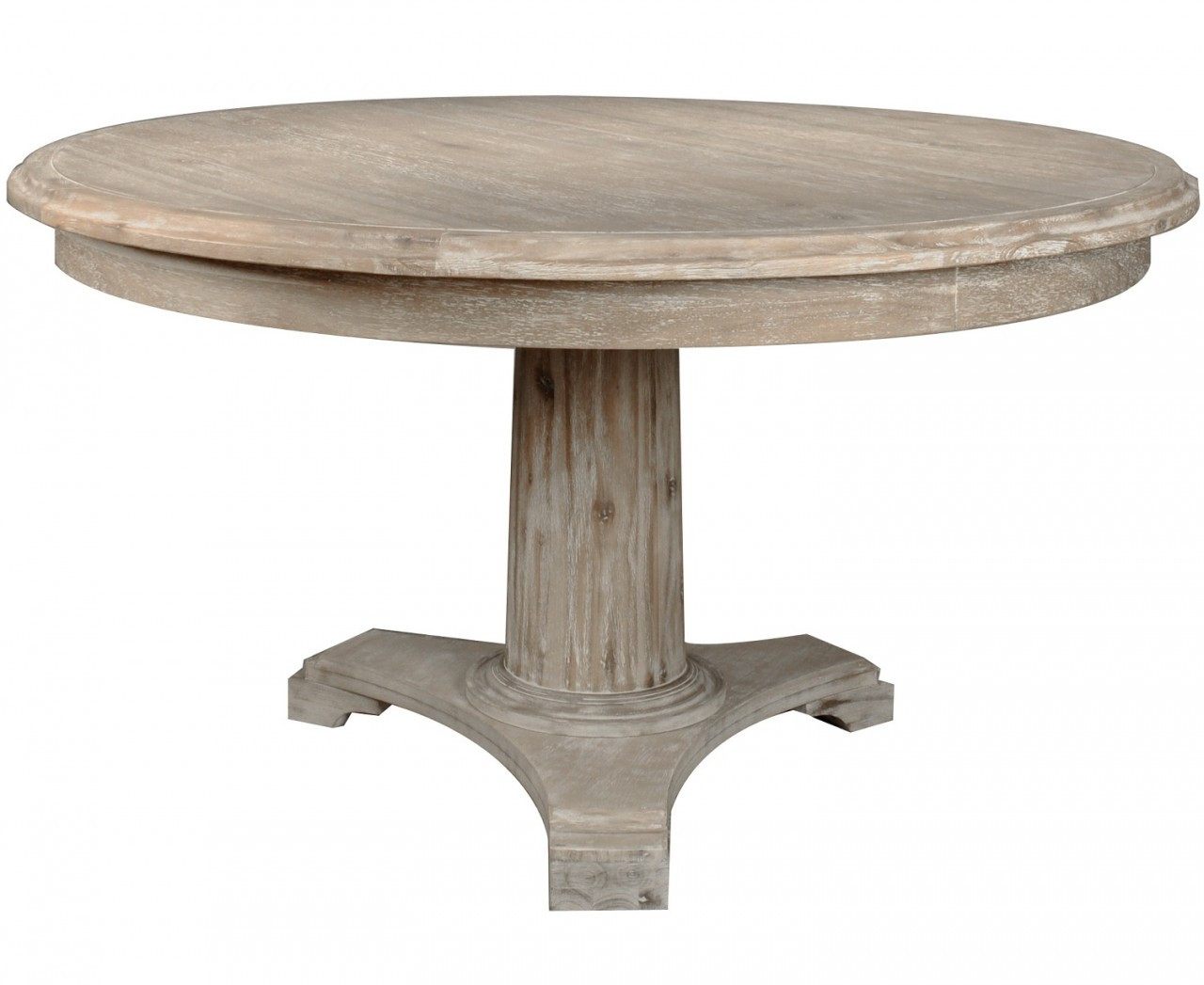 Belmont round dining table 54 round column pedestal for Table column