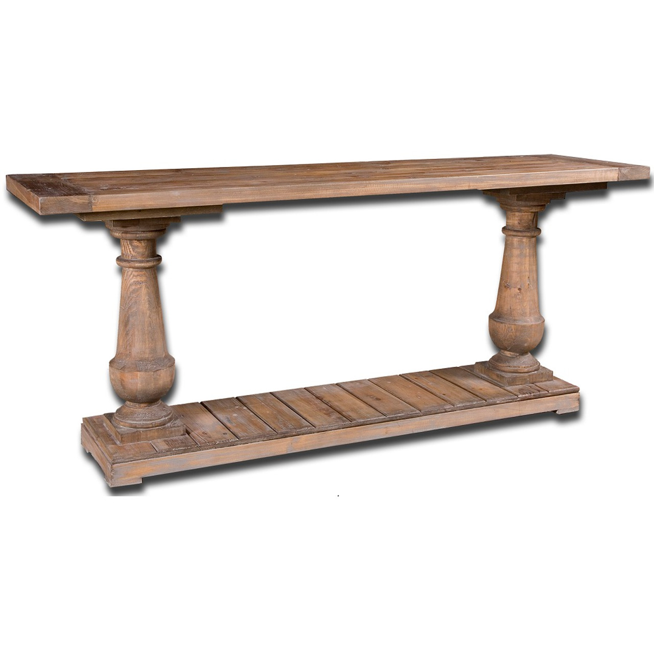 Nice Reclaimed Wood Distressed Console Table
