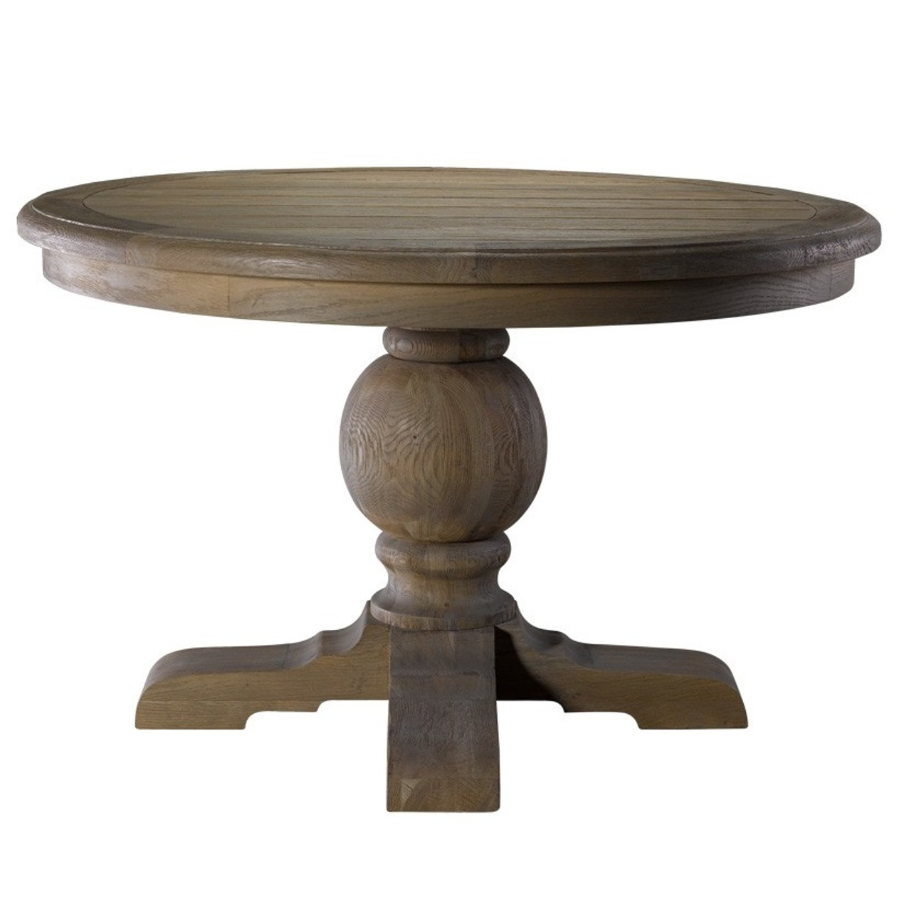 Kingdom Oak Wood Round Pedestal Dining Table 48 Quot Zin Home