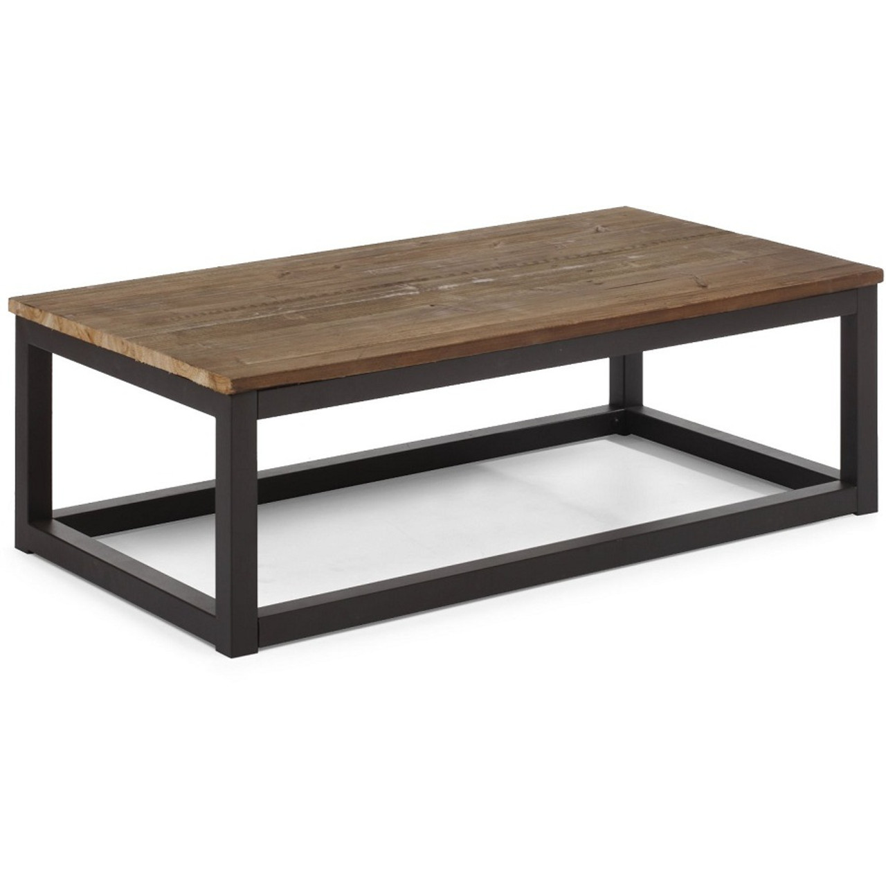 civic wood and metal coffee table 43 zin home. Black Bedroom Furniture Sets. Home Design Ideas