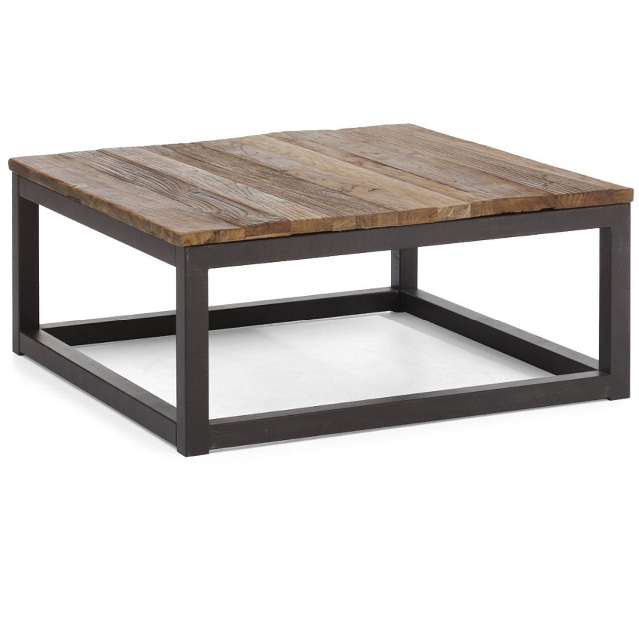 Civic Wood and Metal Coffee Table 43 Zin Home