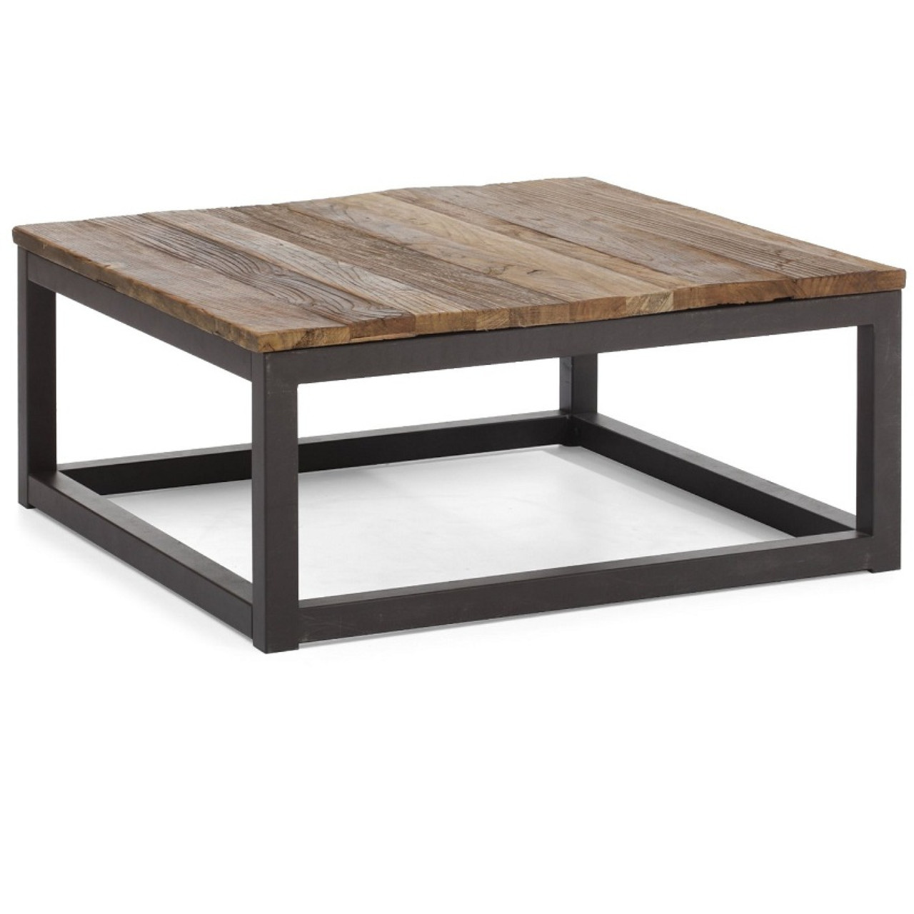 Civic Wood and Metal Square Coffee Table. Civic Wood and Metal Square Coffee Table   Zin Home