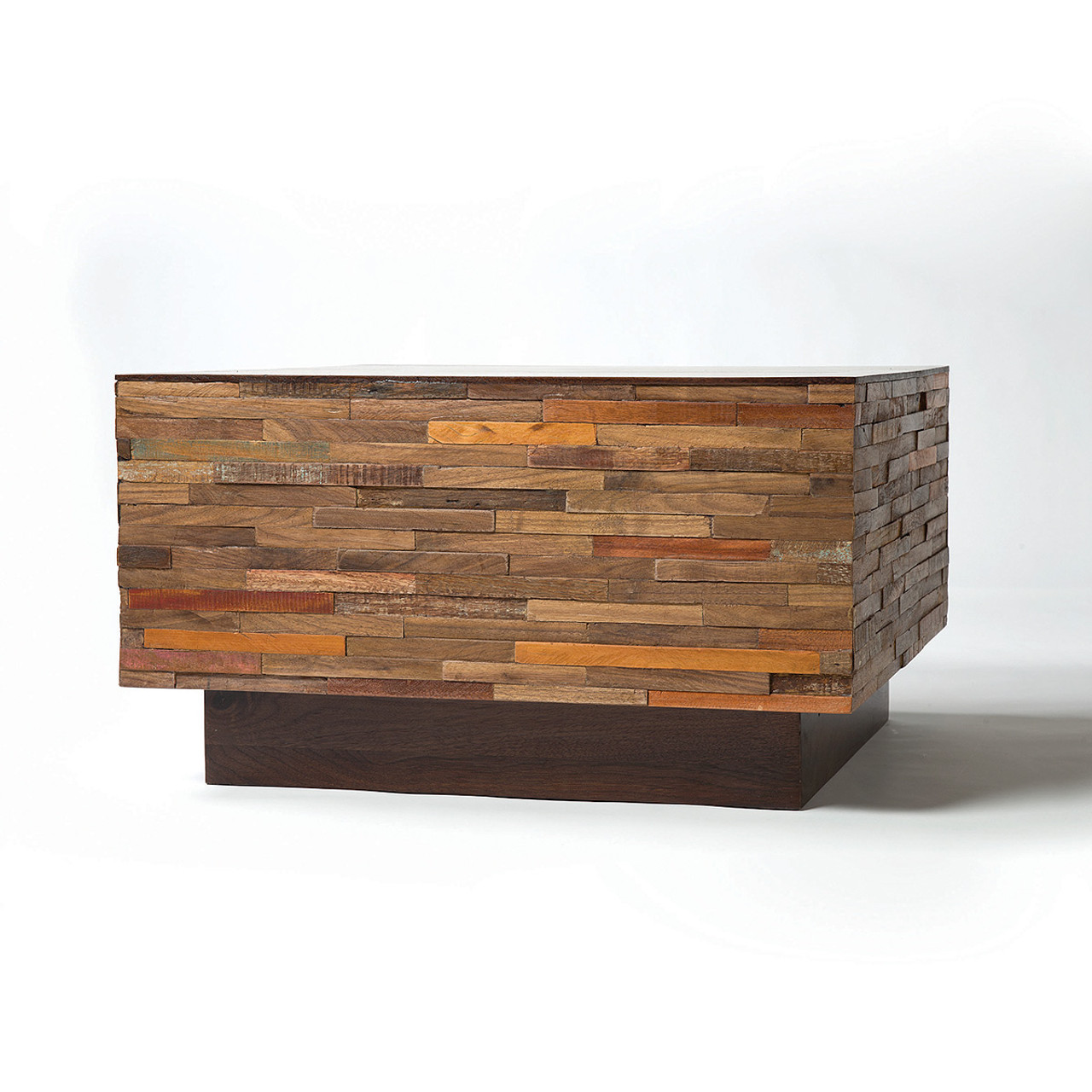 Landon Mixed Reclaimed Wood Square Coffee Table. Landon Mixed Wood Square Coffee Table   Zin Home