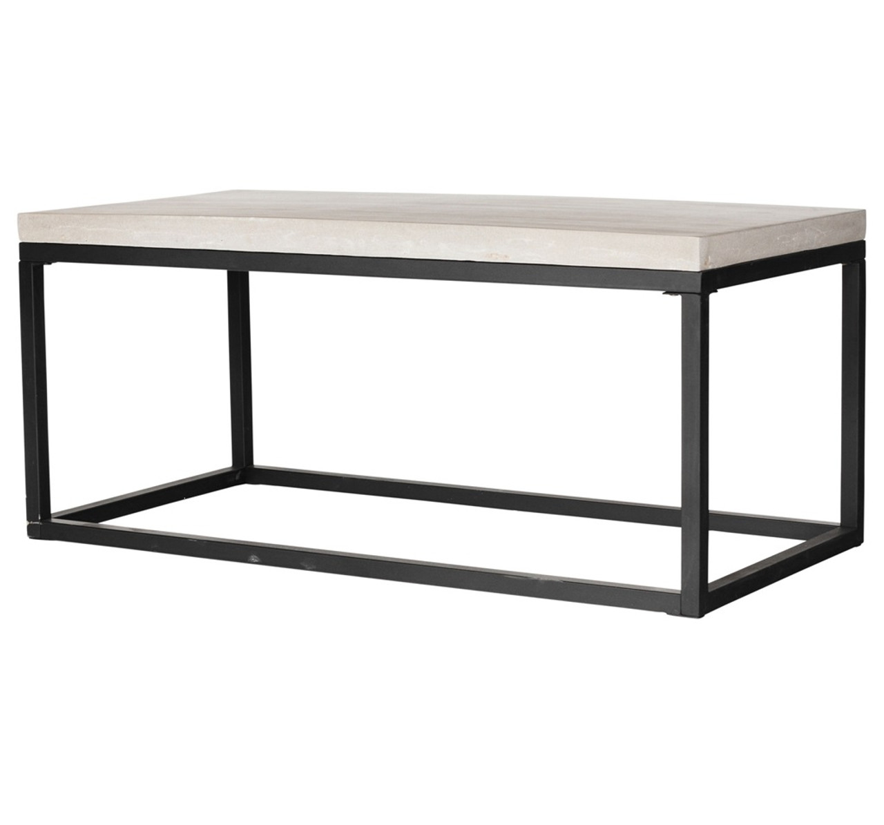 Perfect Masonry Concrete Box Frame Rectangular Coffee Table