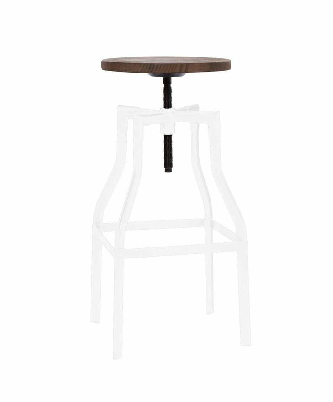 Industrial Adjustable Wood and Metal White Bar Stool  sc 1 st  Zin Home & Industrial Wood and Metal White Bar Stool | Zin Home islam-shia.org
