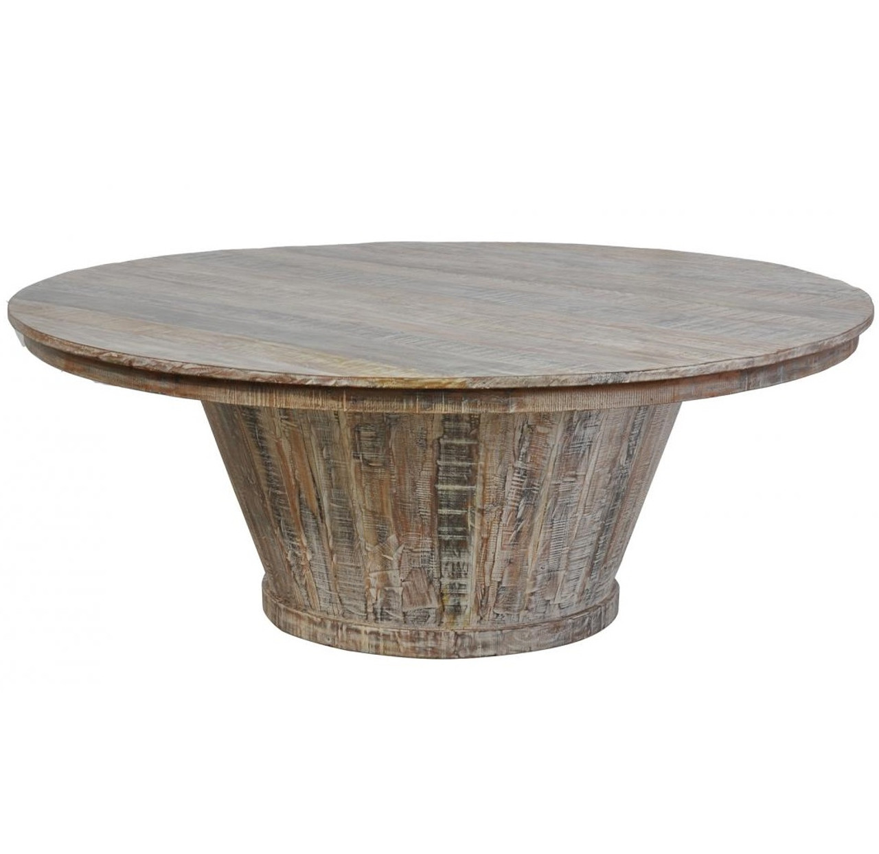 Hampton Reclaimed Wood Round Dining Table 80""