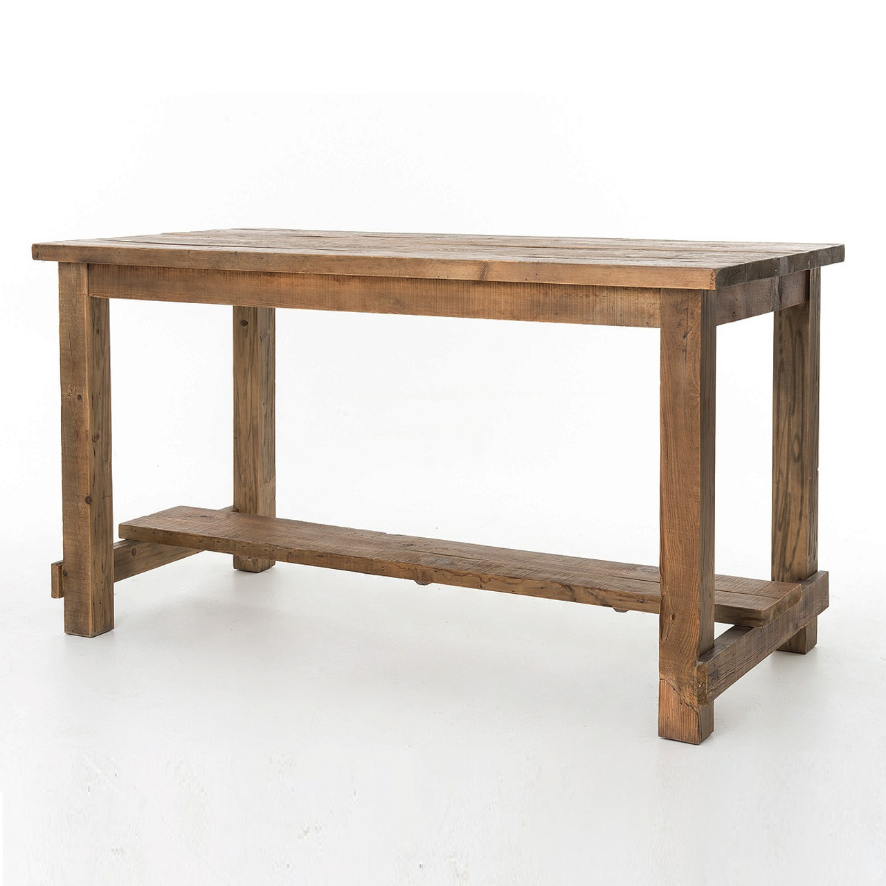 Eco friendly coffee tables side table desks zin home cecil farmhouse reclaimed wood pub table geotapseo Image collections