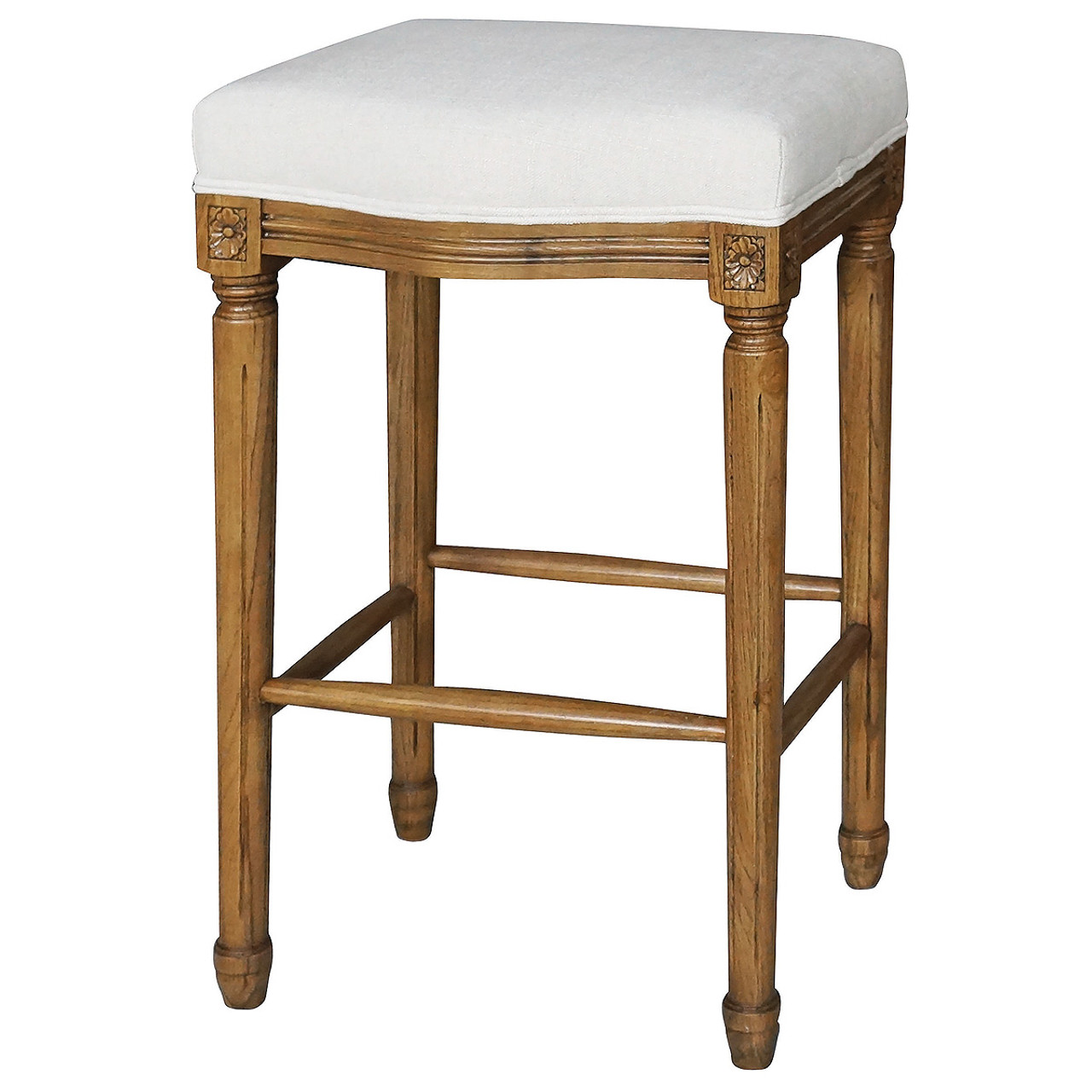 Ashford French White Linen Upholstered Oak Bar Stool Zin  : AshfordFrenchWhiteLinenUpholsteredOakBarStool291901430269693 from www.zinhome.com size 1200 x 1200 jpeg 204kB