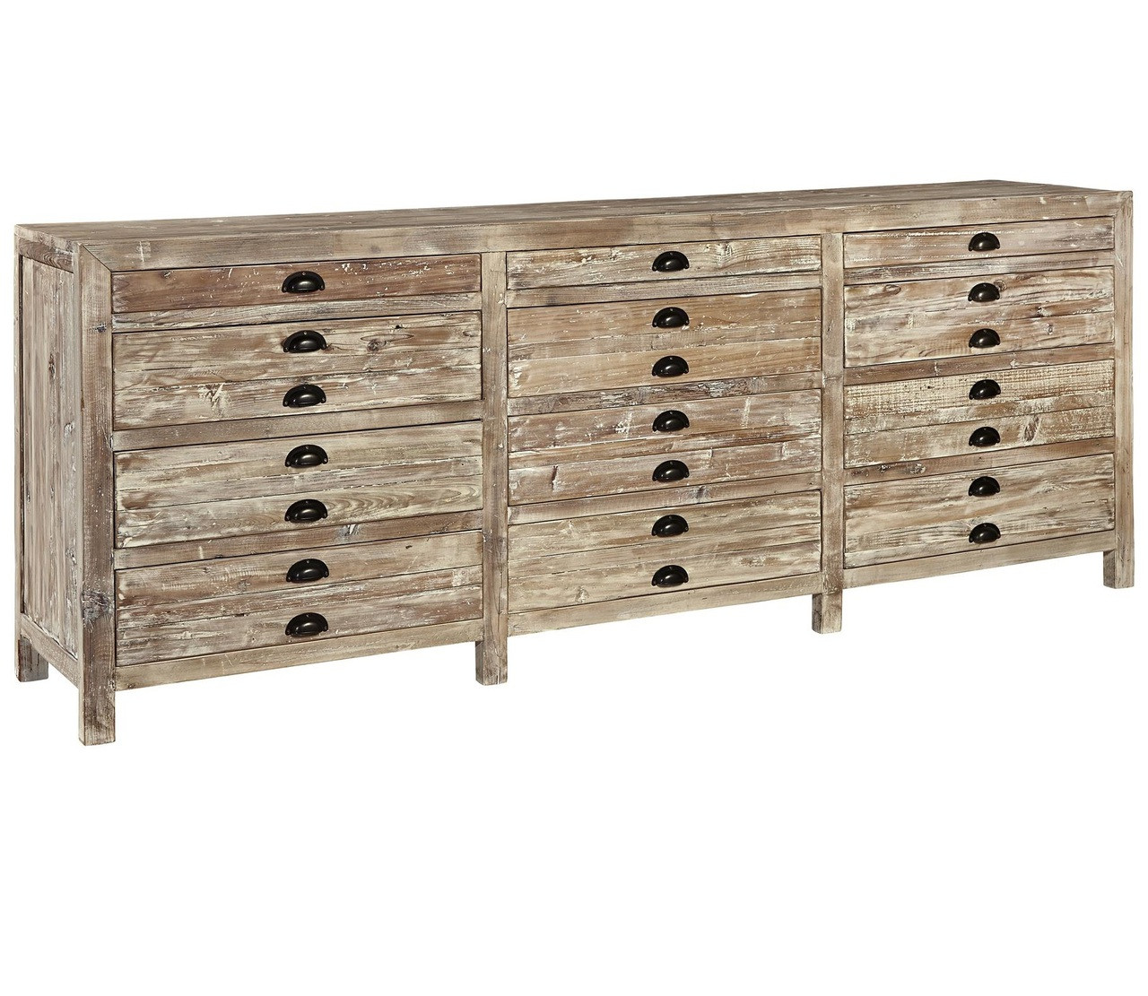 12 Drawer Chest ~ Apothecary reclaimed wood drawer storage chest zin home