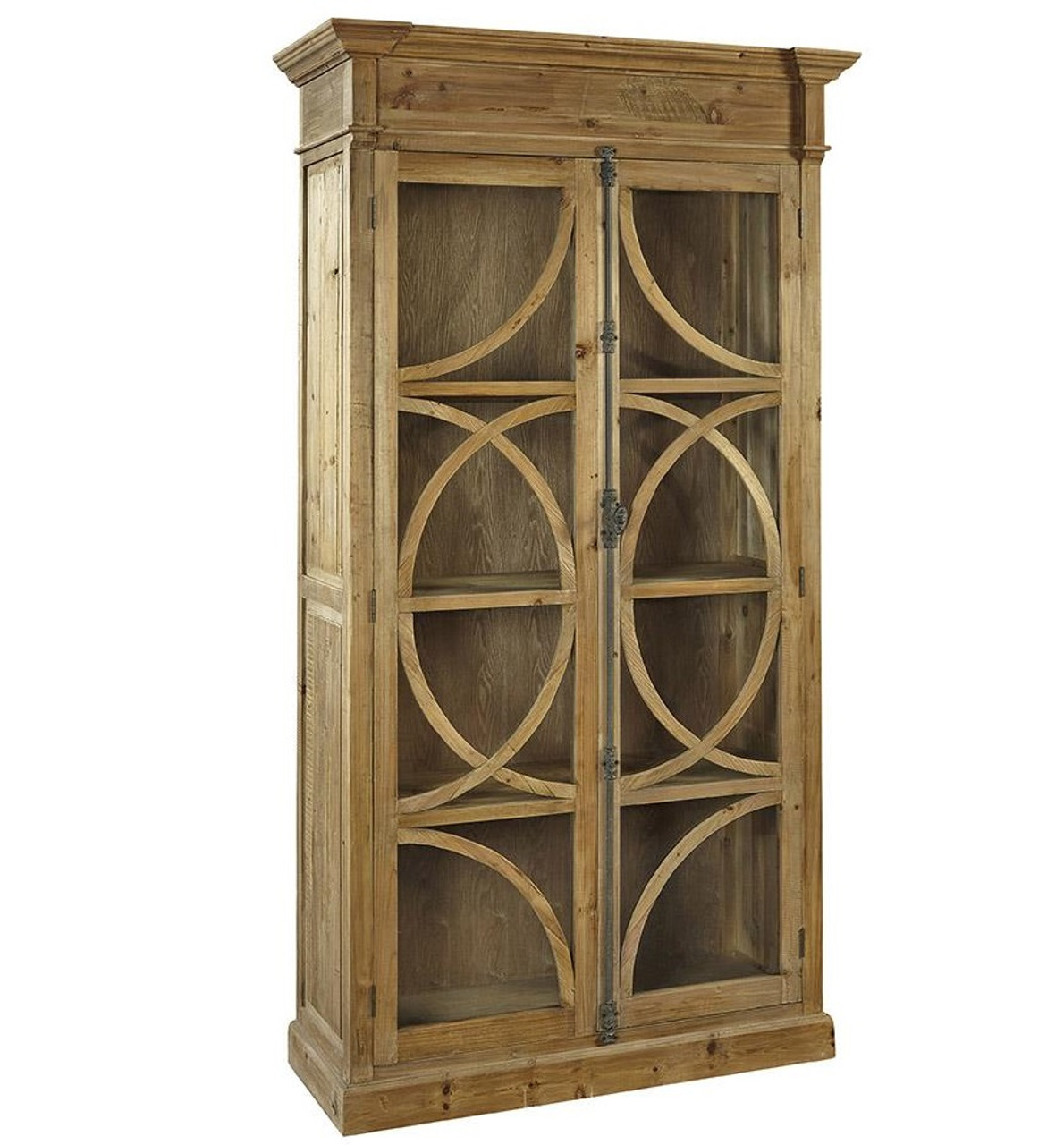 French country china cabinets - Kaleidoscope French Country Weathered Wood Display Cabinet