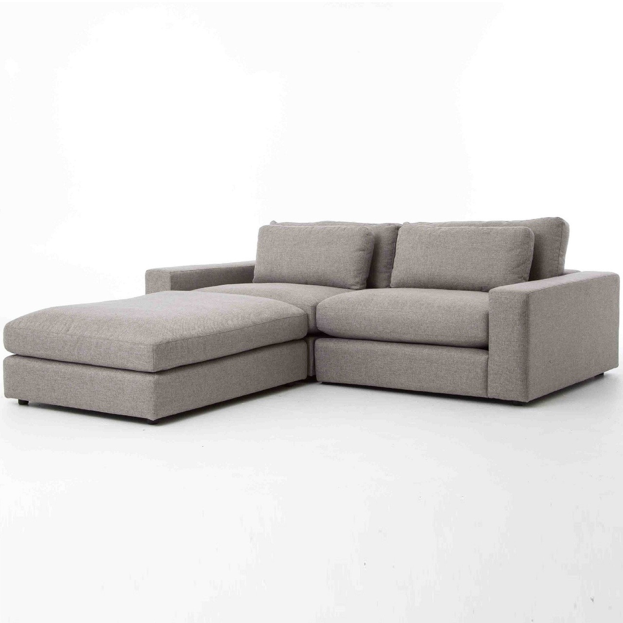 Bloor gray contemporary 3 piece small sectional sofa zin home bloor gray contemporary 3 piece small sectional sofa parisarafo Image collections