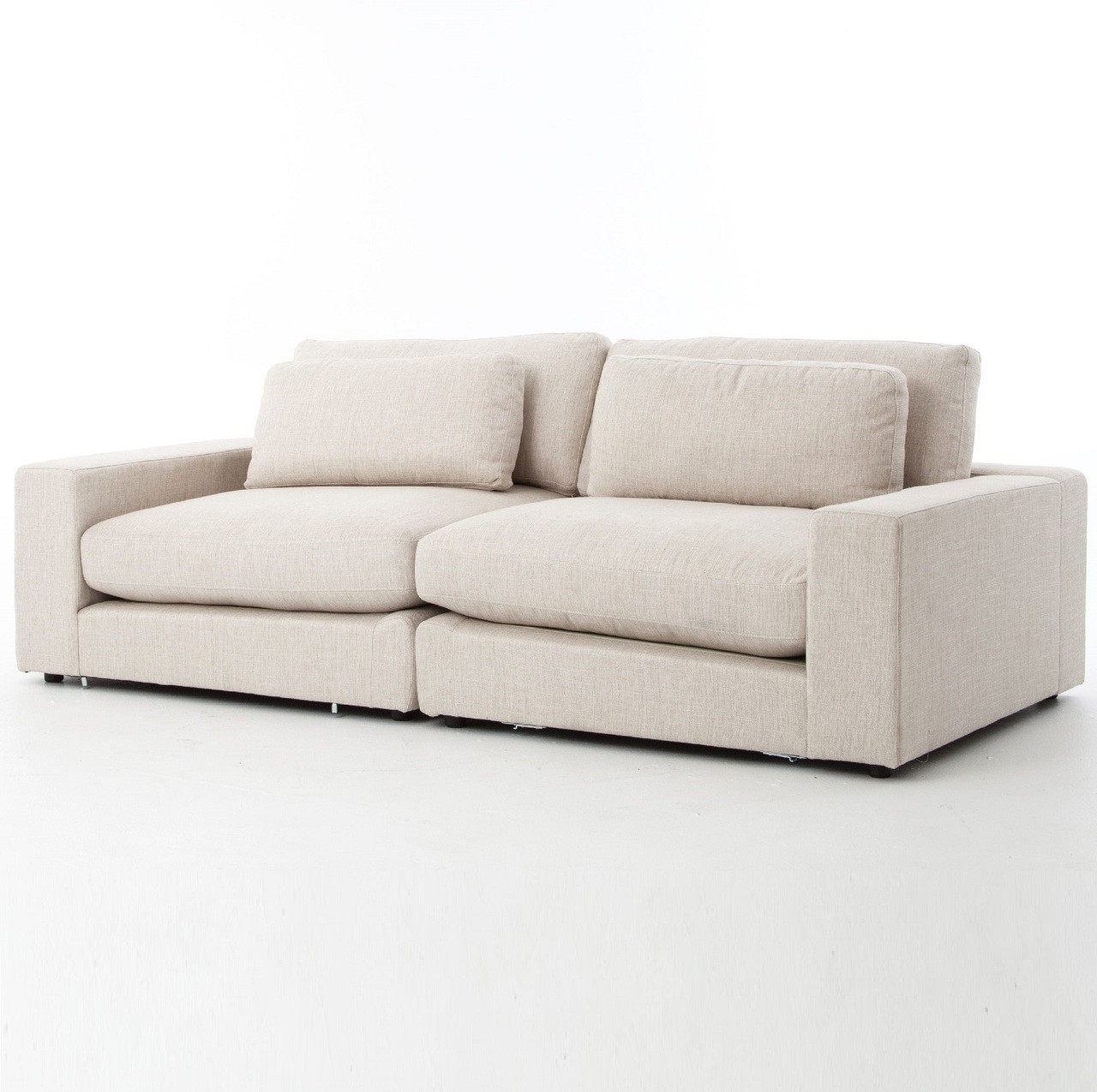 Bloor Beige Upholstered Contemporary 2 Seater Sofa 92