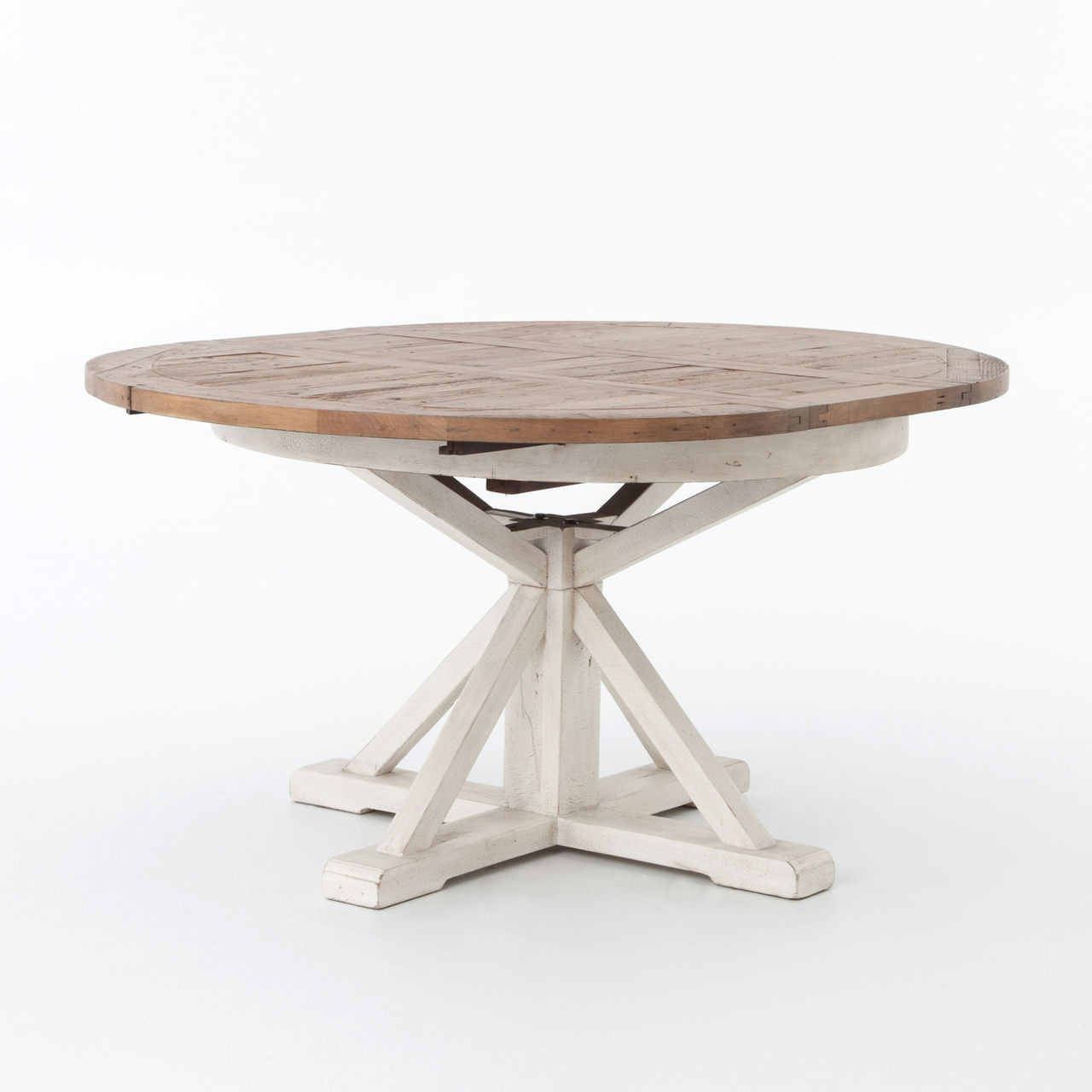 Design Expandable Round Dining Table cintra white expandable round dining table 63 zin home 63