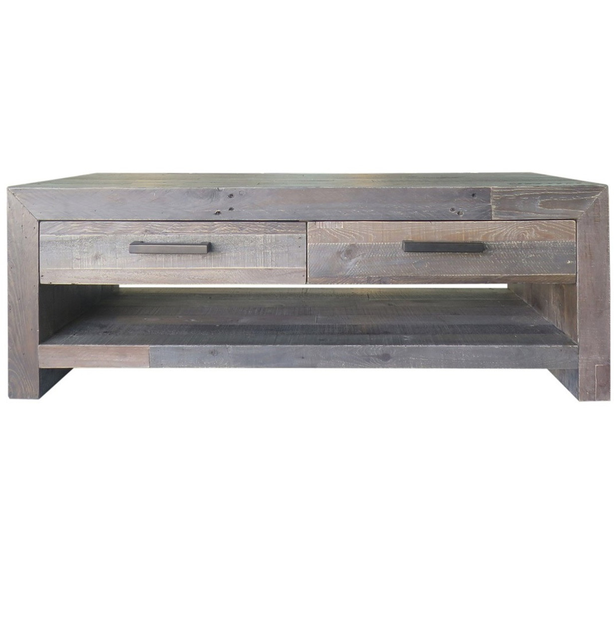 Angora storm reclaimed wood 4 drawer coffee table zin home angora storm reclaimed wood 4 drawer coffee table geotapseo Image collections
