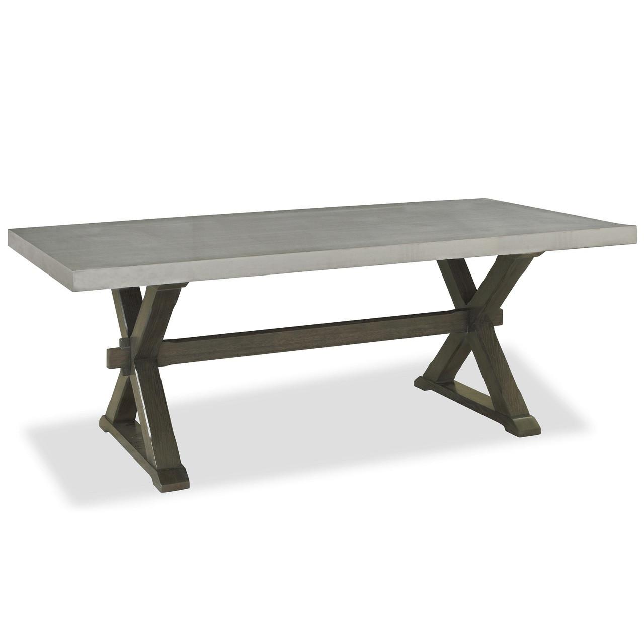 Flatiron Oak Wood + Stainless Steel X-Base Dining Table