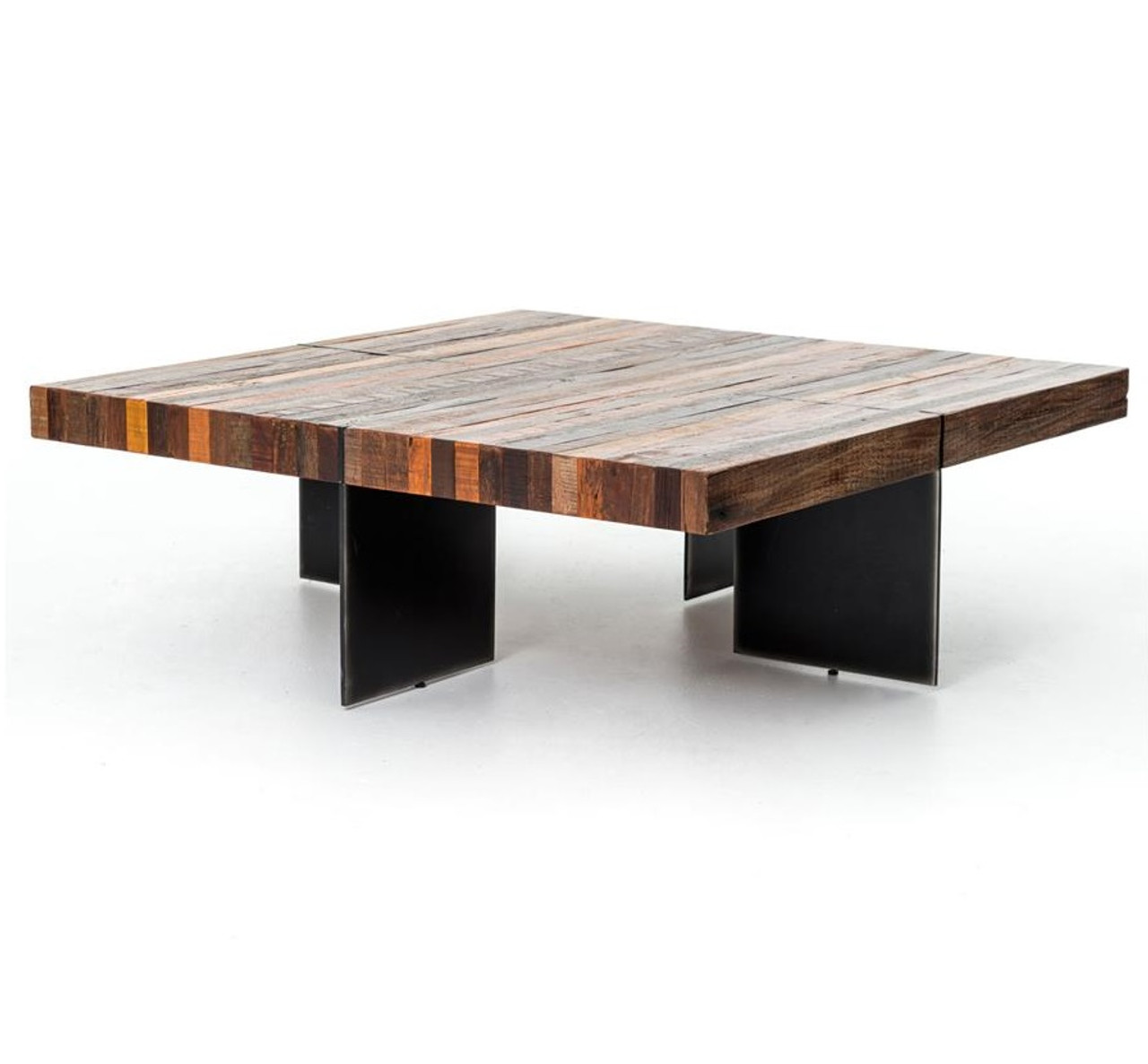 Alec Industrial   Rustic Square Coffee Table. Rustic Reclaimed Wood Coffee Tables   Modern Wood Coffee Table