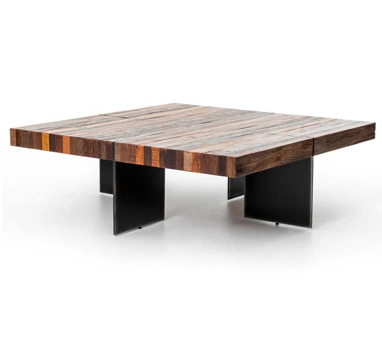 Alec Industrial U0026 Rustic Square Coffee Table