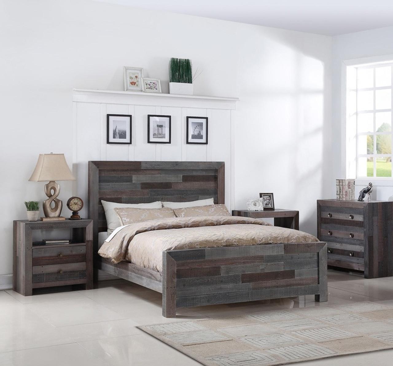 Angora Reclaimed Wood King Size Platform BedStorm Zin Home