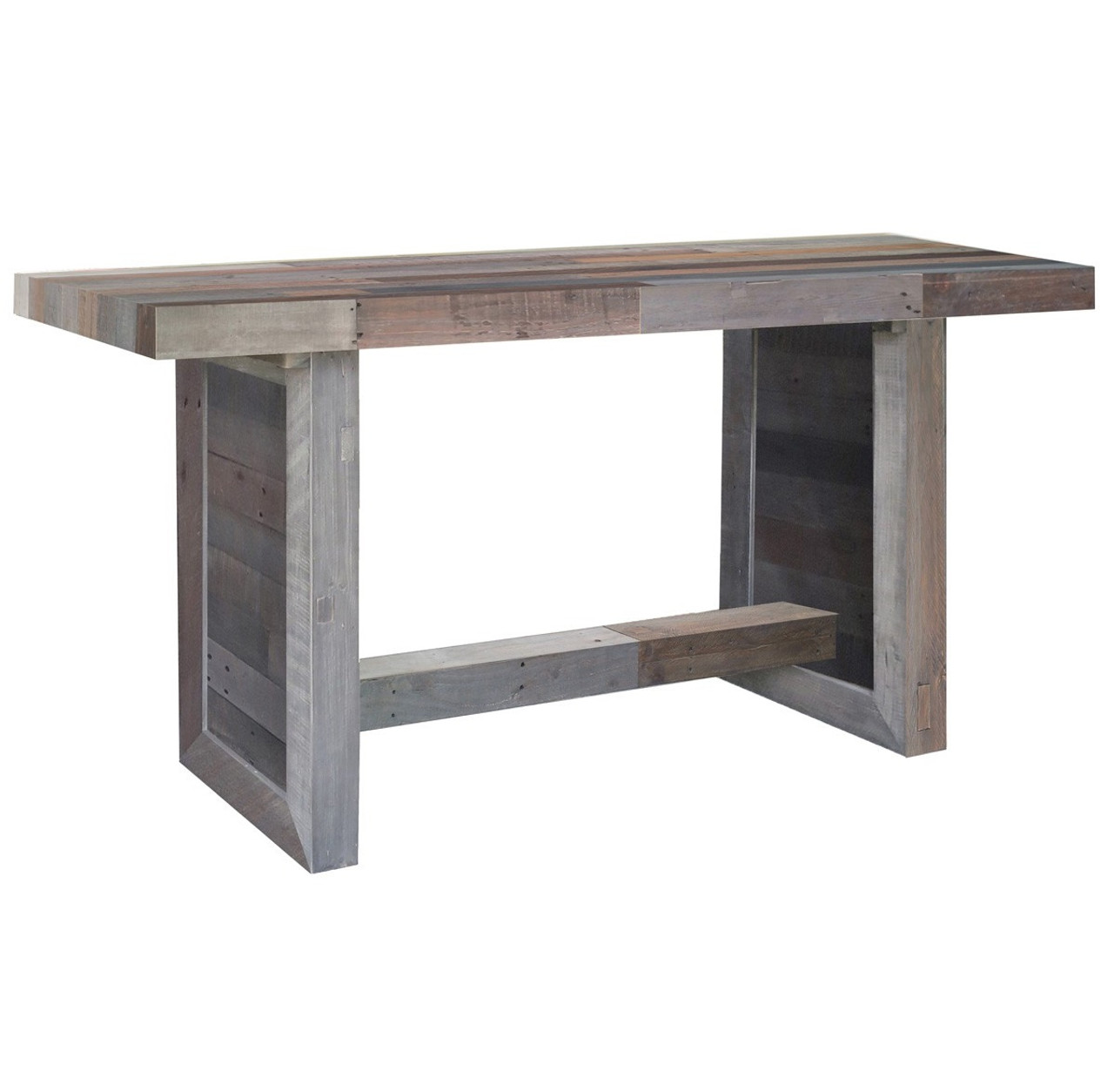 Dining Room Table Expandable Angora Reclaimed Wood Counter Height Kitchen Table Zin Home