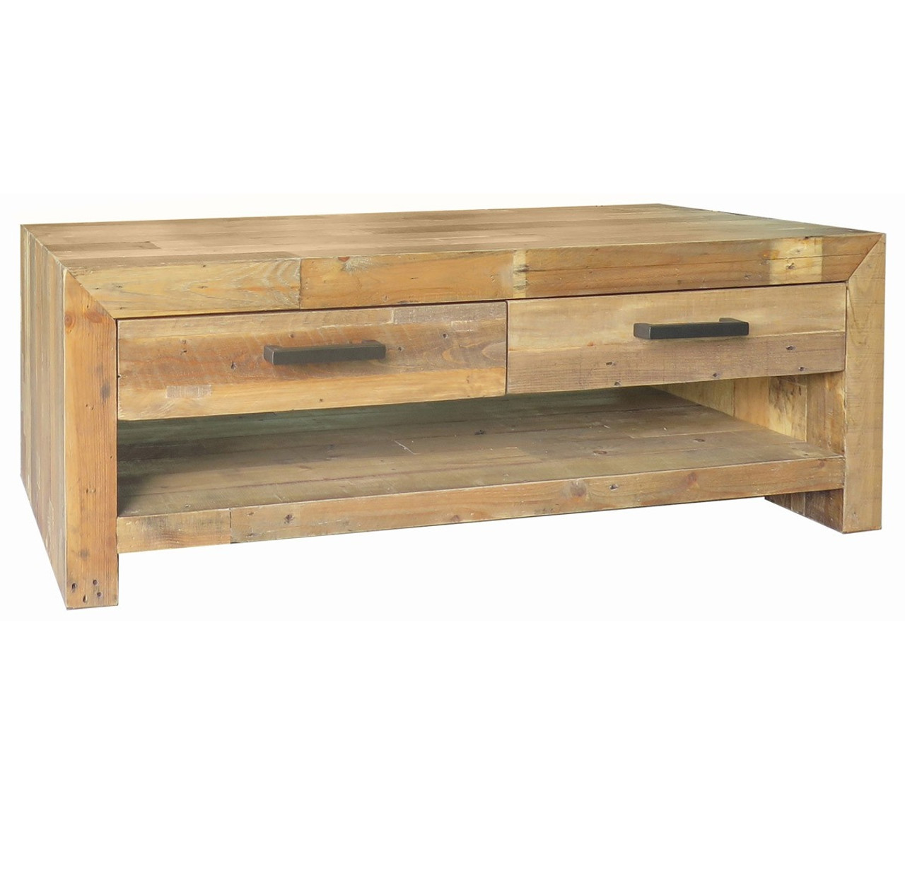 Angora natural reclaimed wood 4 drawer coffee table zin home angora natural reclaimed wood 4 drawer coffee table geotapseo Image collections