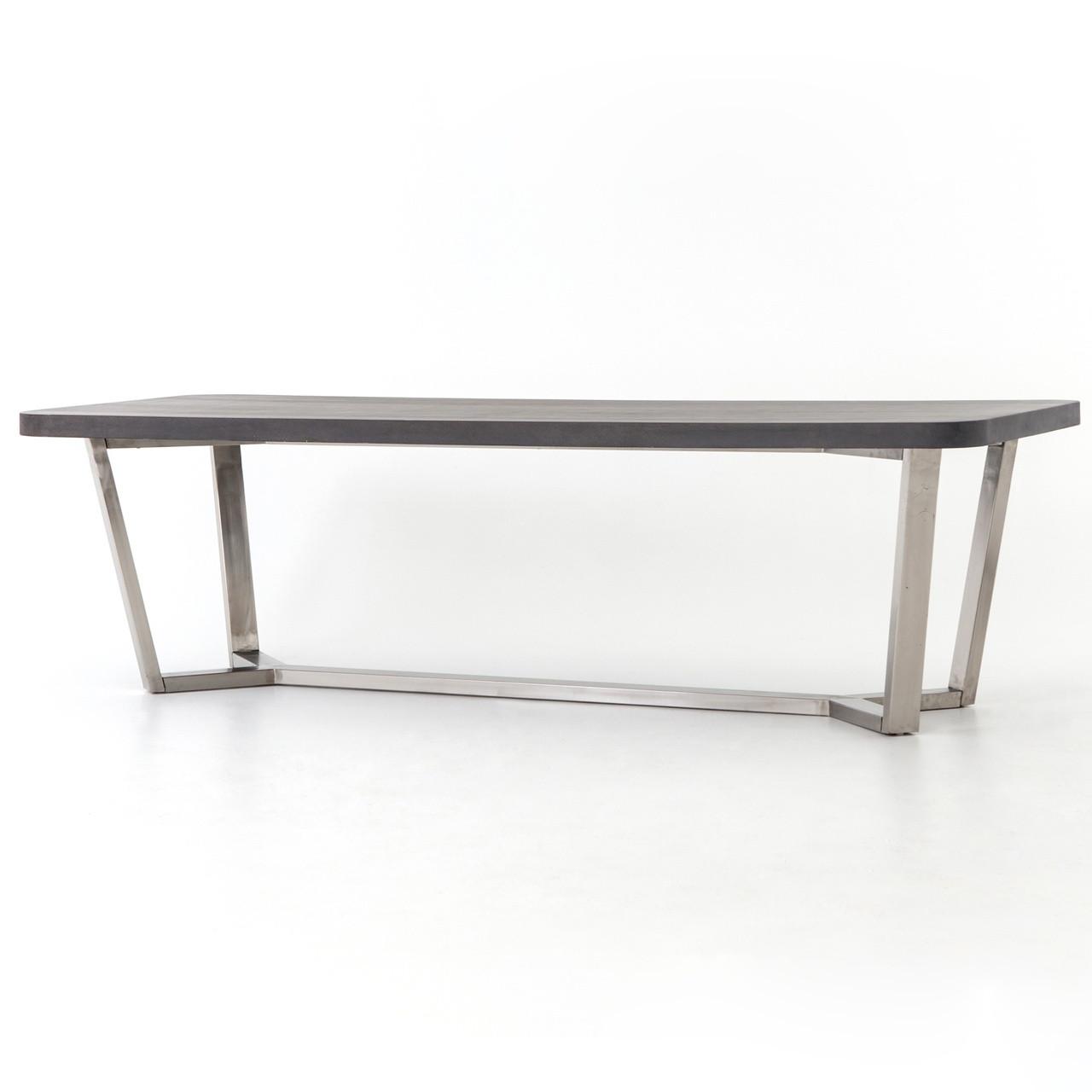 Ashton Lavastone Top Stainless Steel Legs Dining Table