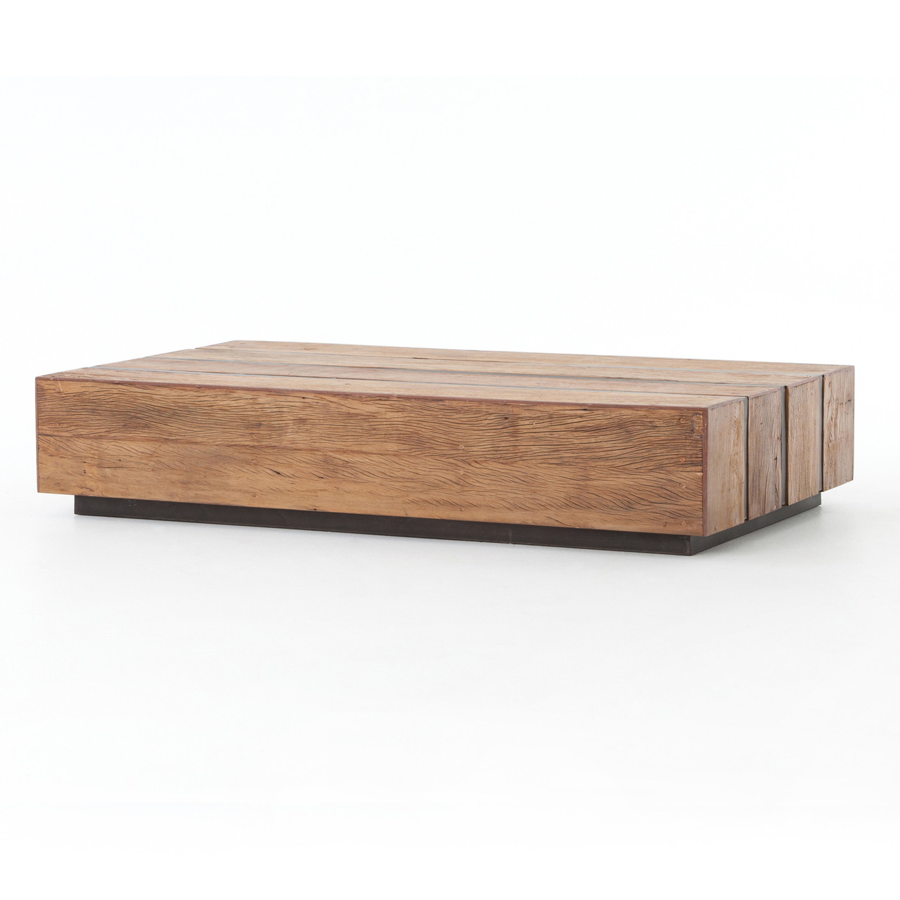 Grady reclaimed peroba wood slab coffee table 70 zin home grady reclaimed peroba wood slab coffee table 70 geotapseo Image collections