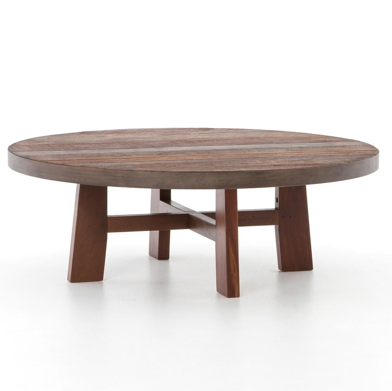 Lauren reclaimed wood round coffee table 36 zin home lauren reclaimed wood round coffee table 36 geotapseo Images