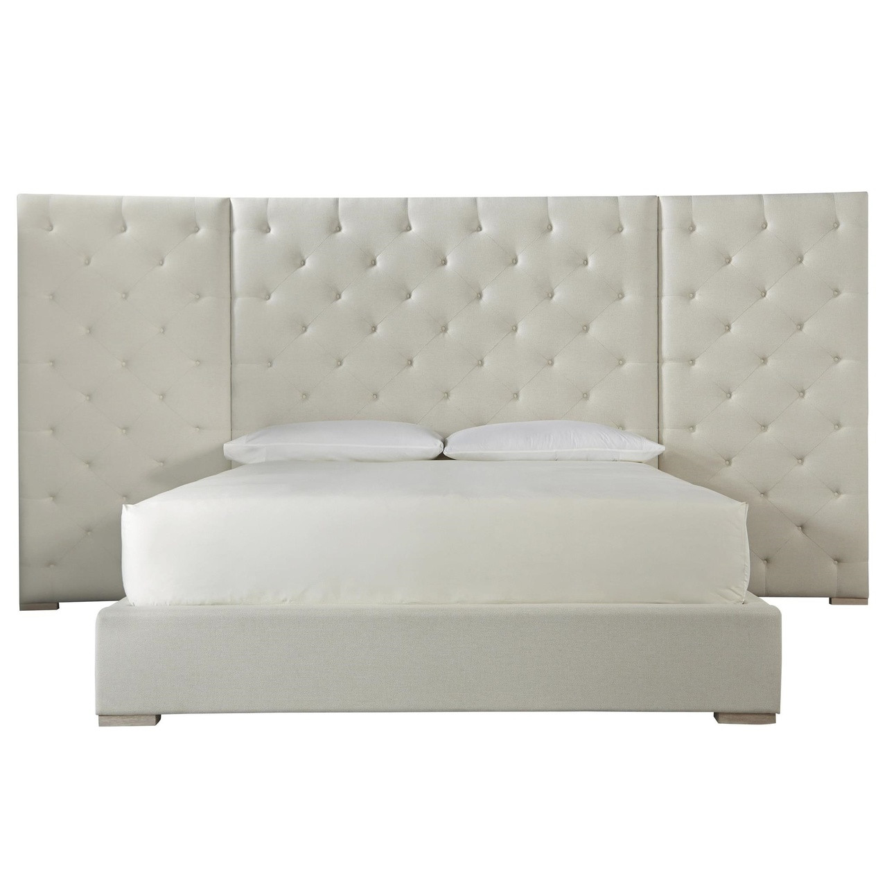 modern boxtufted extended headboard fabric platform bed  california king. modern boxtufted extended headboard fabric platform bed