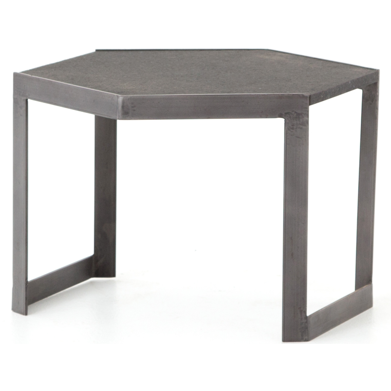 Clint iron granite top hexagonal bunching coffee table zin home clint iron granite top hexagonal bunching coffee table geotapseo Gallery