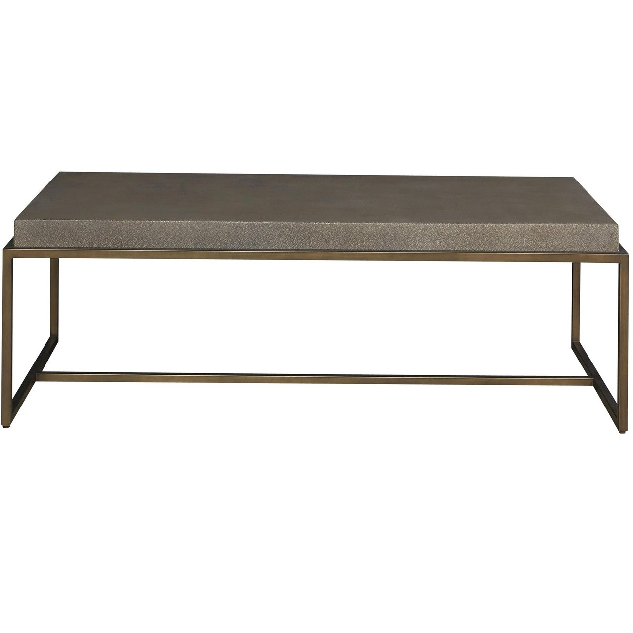 Portobello modern shagreen coffee table brushed bronze zin home portobello modern shagreen bronze coffee table geotapseo Image collections