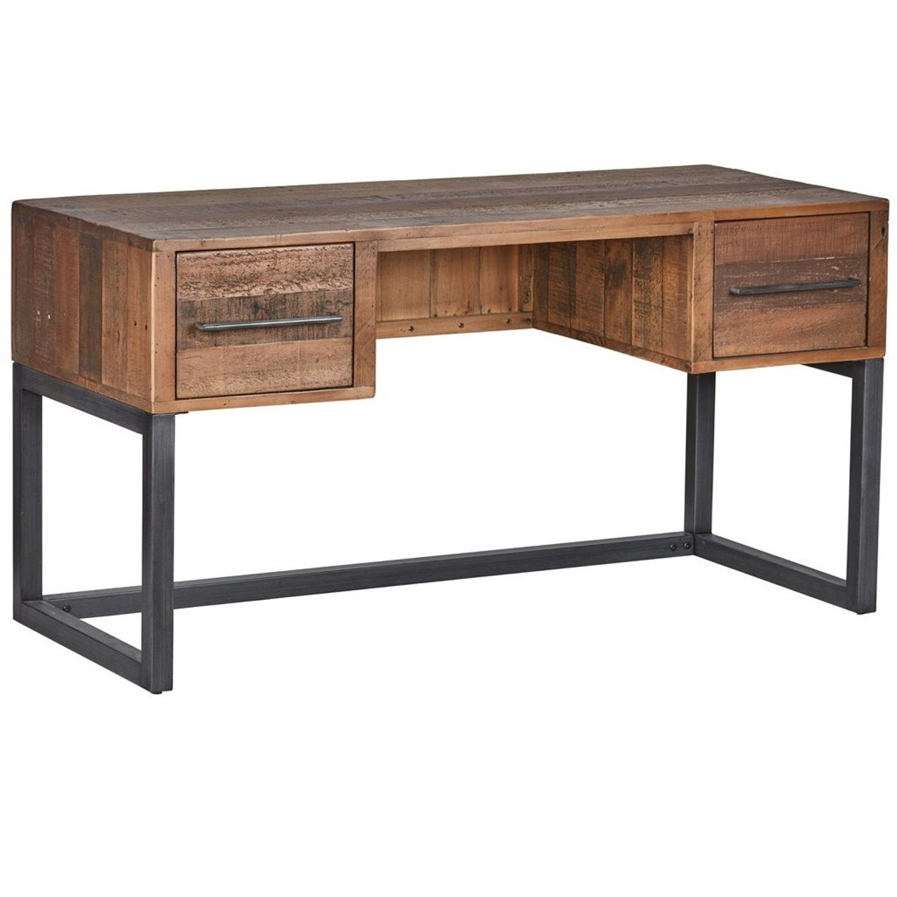 Anderson Rustic Wood And Metal Writing Desk