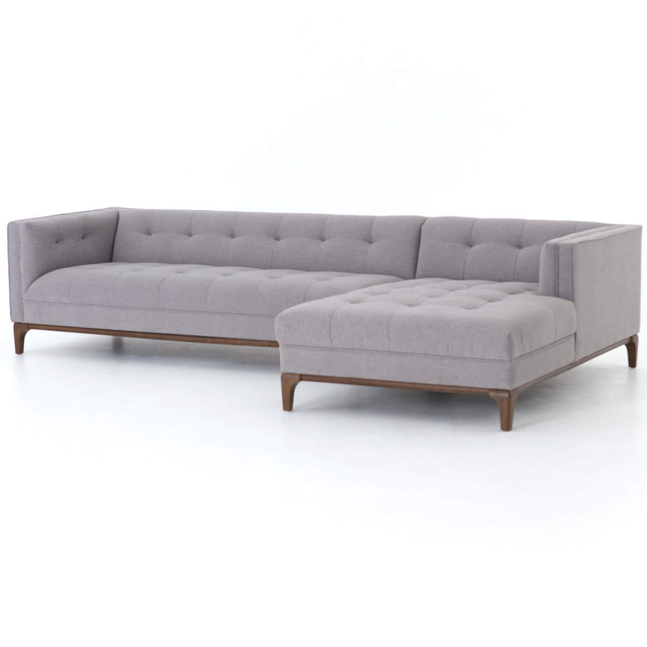dylan midcentury modern tufted 2 piece sectional sofa